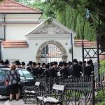 Przed synagogą Remuh