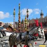 Dorożka na Rynku w Krakowie