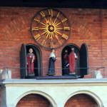 Zegar na dziedzińcu Collegium Maius